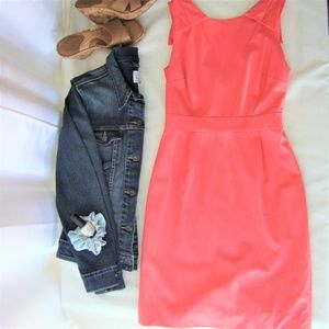 J. Crew • Vibrant Pink Low Back Sheath Dress